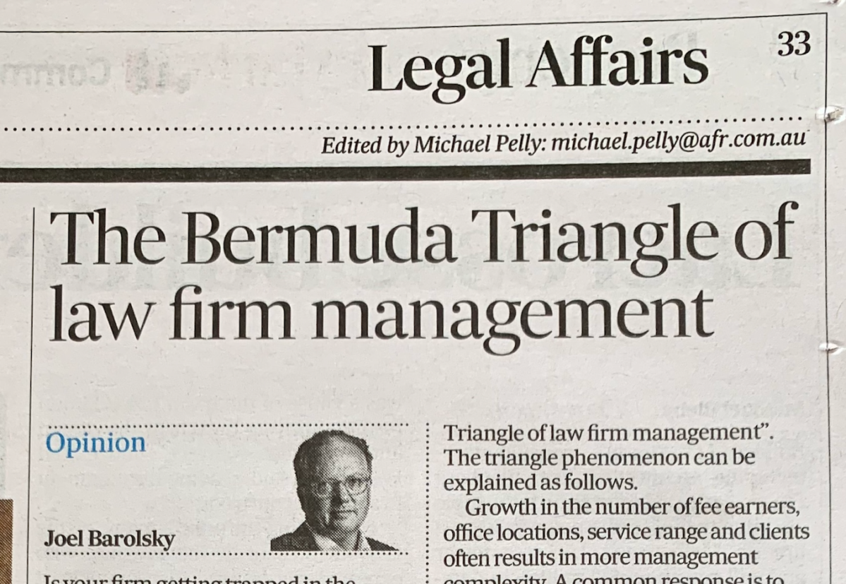 Avoiding the Bermuda Triangle of law firm management