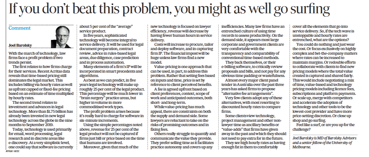 AFR Op-Ed Oct 19 Surfing